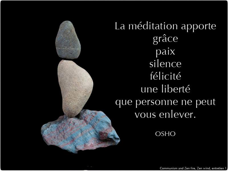 DECOUVIR LA MEDITATION ACTIVE de OSHO